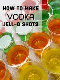 How to Make Vodka Jell-O Shots 1 small box of Jell-O (I use small boxes so I can make a bunch of different flavors in batches. Double the recipe if using large boxes.)8 ounces of boiling water6 ounces Smirnoff vodka2 ounces water