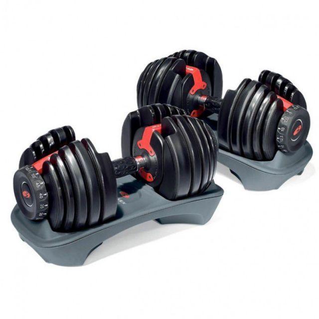 Bowflex SelectTech Dumbbells are probably the best known adjustable dumbbells available #bowflex #dumbbells #workout