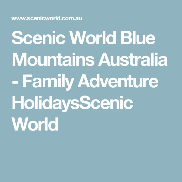 Scenic World Blue Mountains Australia - Family Adventure HolidaysScenic World