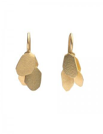 Wisteria earrings by Yuko Fujita
