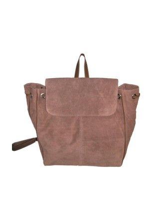 Brown Suede Leather Handbag