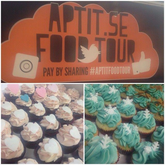 Idag var vi med @aptit.se på deras #aptitfoodtour, mycket skoj  #cupcake #catering #foodondemand #takeaway #fredagsfika #göteborg #linné #gbgftw