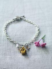 Apple Blossom, Songbird and House Charm Bracelet