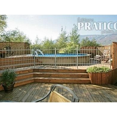 17 best images about pools on pinterest above ground pool landscaping wood decks and pools - Construire un deck de piscine hors sol ...