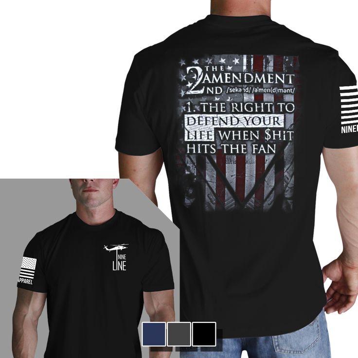2nd Amendment Definition TShirt Nine Line Men's Black