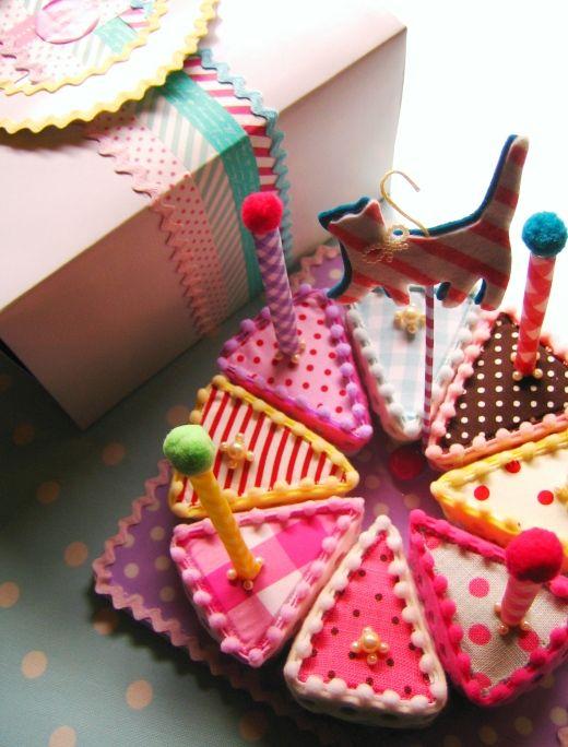 可愛い!布で作ったおままごとケーキ♪