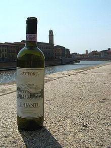 Juomat: CHIANTI on Italian kuuluisin punaviini joka on kotoisin Toscanan maakunnasta