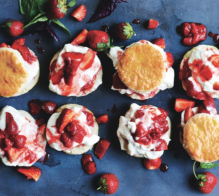 We love the combination of gently cooked and raw strawberries in this not-too-sweet version of the classic dessert.