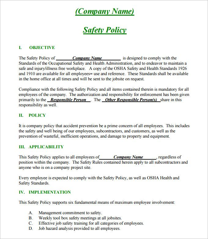 Safety Plan Template Business Plan Template Free How To Plan