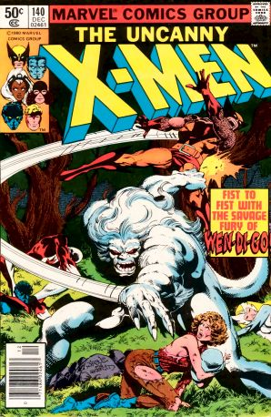 Uxm140.png  Originally a legend from Algonquin mythology. The Wendigo is used as a supernatural antagonist in the X-men and the Hulk.