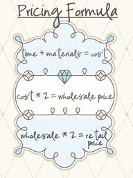 """pricing formula. The true cost of selling your handmade products..."""" data-componentType=""""MODAL_PIN"""