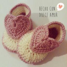 Hecho Con Dulce Amor: Zapatitos para Bebes Super Tiernos