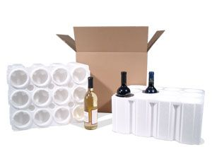 This wine shipping kit can hold 1, 2, 3, 6 or 12 bottles of wine for shipping or moving. The 3-bottle box is only $8.95!