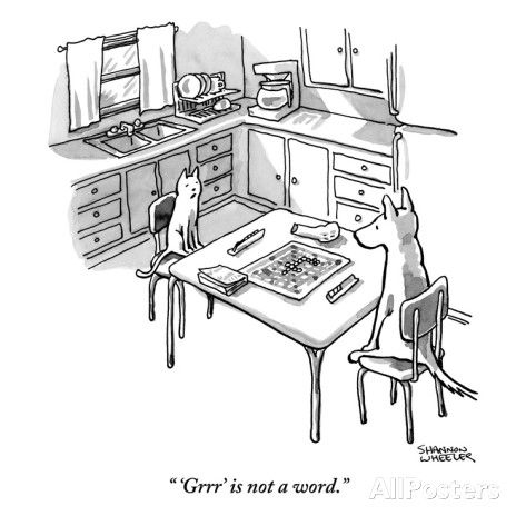 "new yorker cartoons archive | Grrr' is not a word."" - New Yorker Cartoon Poster Print by Shannon ..."