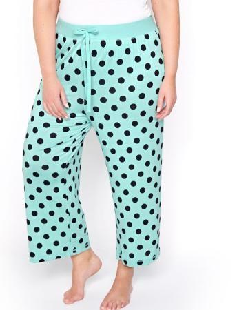 Capri pyjama à pois à jambe large - Collection Déesse