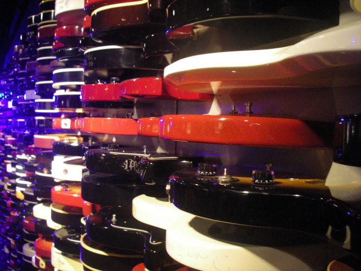 Rock & Roll - Guitar Wall - Hard Rock Cafe - Times Square - New York