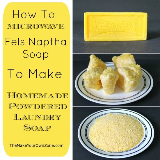 How to microwave Fels Naptha Soap to make Homemade Powdered Laundry Soap - skip the hand grating and try this method instead!