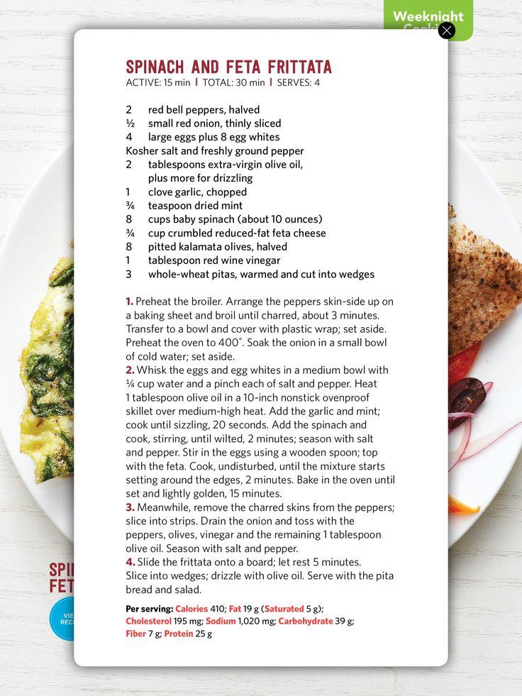 Spinach & feta frittata | Eggs/cheese | Pinterest | Feta and Spinach