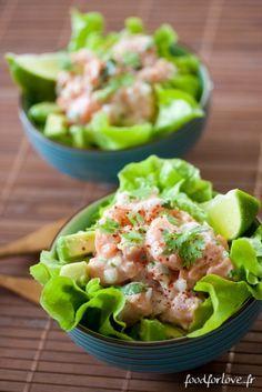 Tartare de Saumon au Lait de Coco, Avocat et Coriandre - In the Food for Love