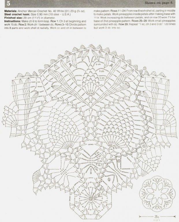 #71_MADISON Lace Crochet Doily Chart (part 2 of 2)