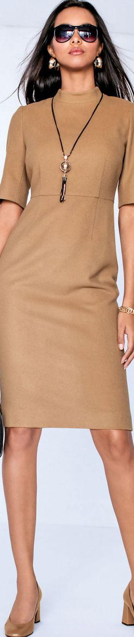 Madeleine Dress in Caramel