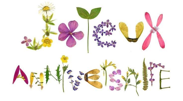 Joyeux Anniversaire Pauline Joyeux Anniversaire Fleurs Carte