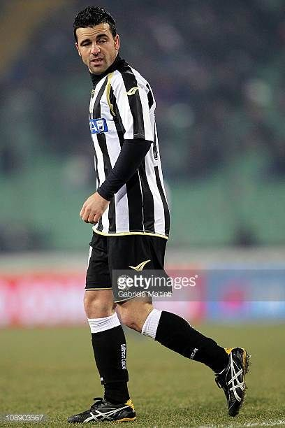 Antonio Di Natale of Udinese Calcio looks on during the Serie A match between Udinese Calcio and UC Sampdoria at Stadio Friuli on February 5 2011 in...