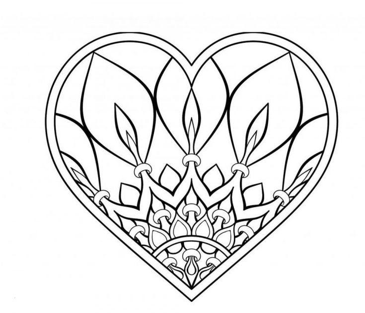 herz malvorlagen  supermalvorlagen  heart mandala