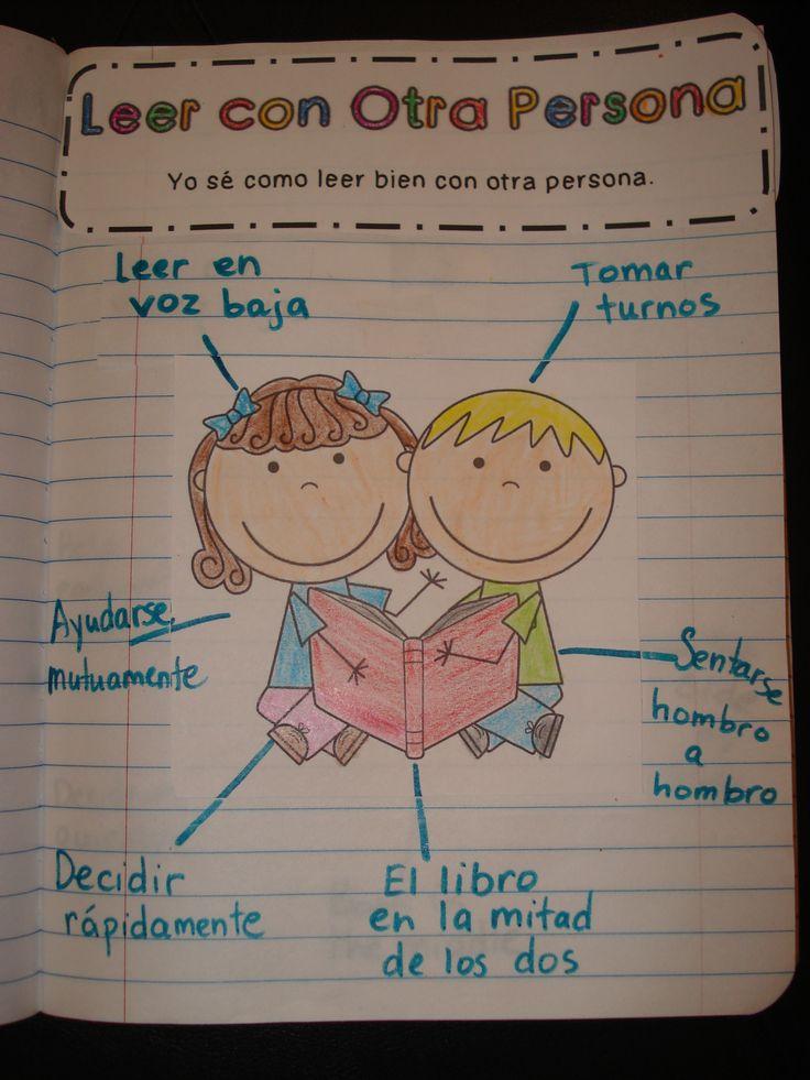 Hacer con los niños en el cuaderno de lectura para establecer las normas!