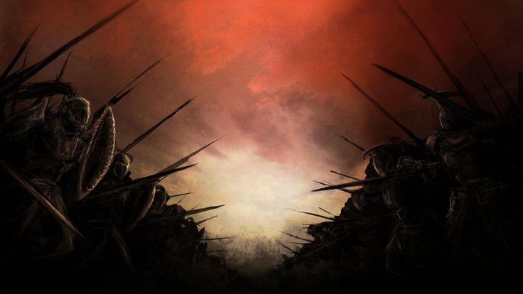 Поле боя Воины Красный Небо
