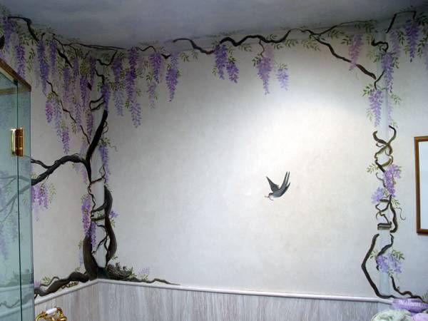 wisteria wallpaper bathroom - photo #9