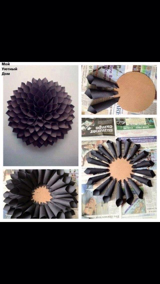 DIY Wall Flower Decor