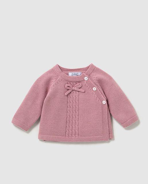 Jersey de bebé Dulces en rosa cruzado