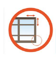 Pasos para medir tus cortinas, persianas y toldos.  PASO 2:  -Ubica las restricciones que se pudieran tener como: apagador, manijas o soclo.