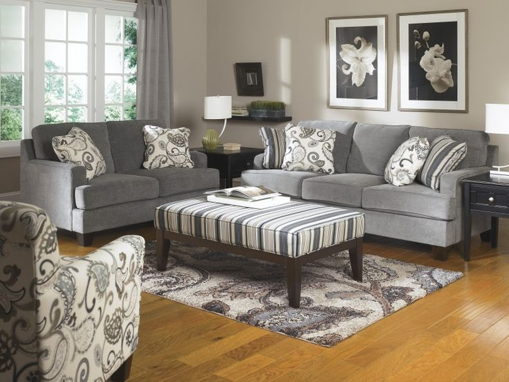 Yvette Steel Sofa U0026 Loveseat Set By Signature Design By Ashley. Brought To  You By · Living Room ...