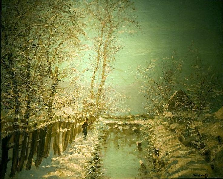 Winter Sunshine, László Mednyánszky (1852–1919)
