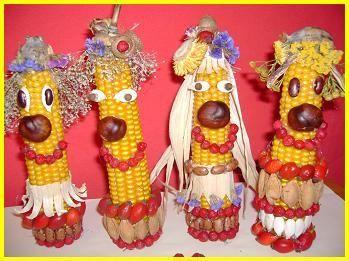 Panáčci z kukuřice #kukuřice #podzim #tvoření