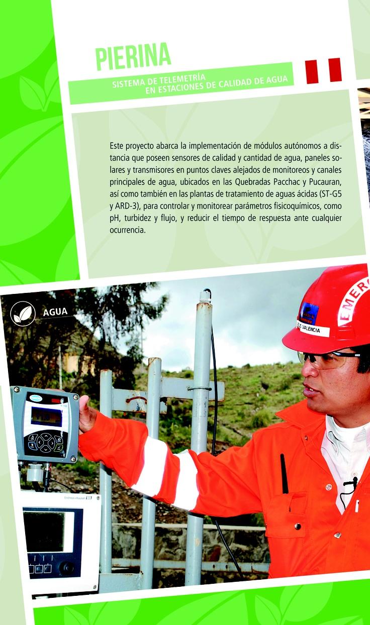 Pierina: Sistema de telemetría en estaciones de calidad de agua - Infografía completa en el sitio de Barrick Sudamérica http://barricksudamerica.com