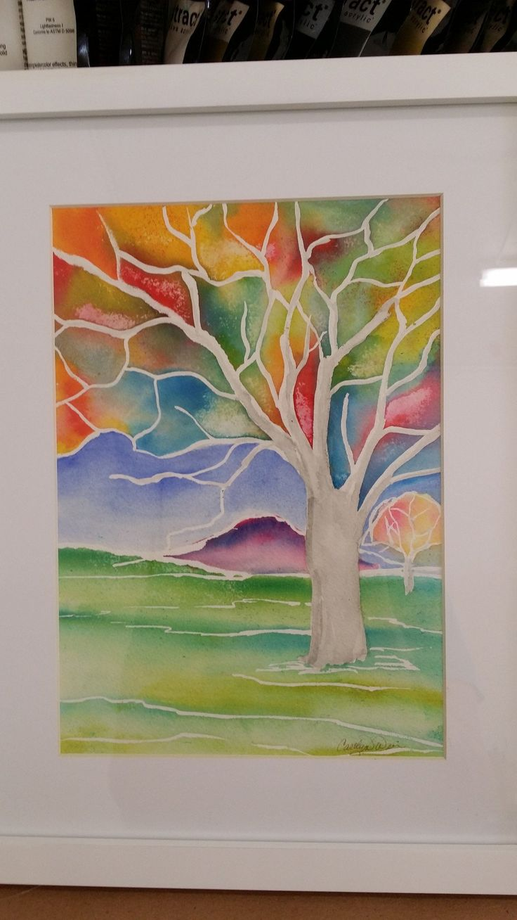 Painting - Watercolor on 140lb Arches - Enchanted Tree 11 Framed