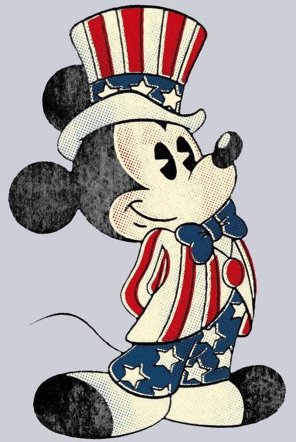 Patriotic Mickey Mouse