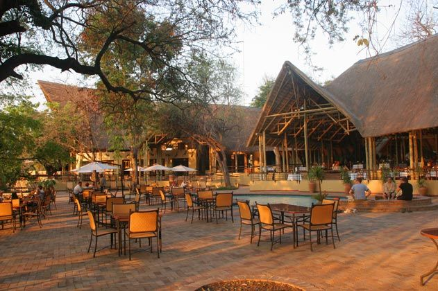 Chobe Safari Lodge -- Dining and Lounge Area -- Botswana Travel