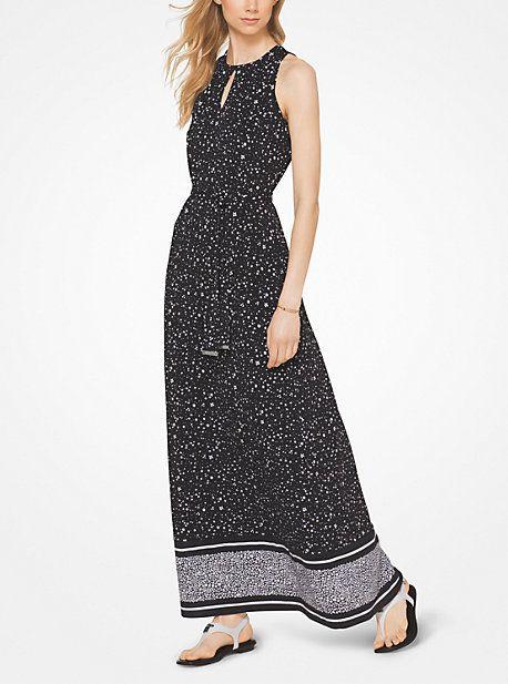 Floral Matte-Jersey Maxi Dress  34ae426d3