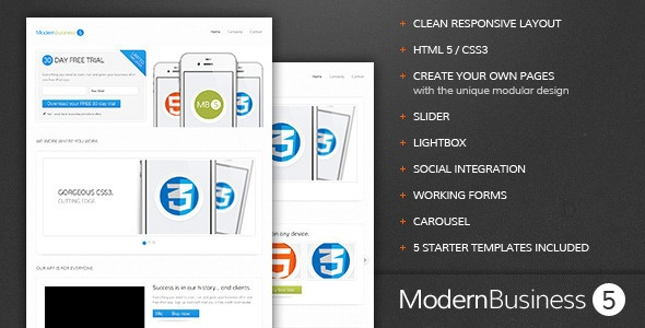 Modern Business 5 - Responsive Landing Page