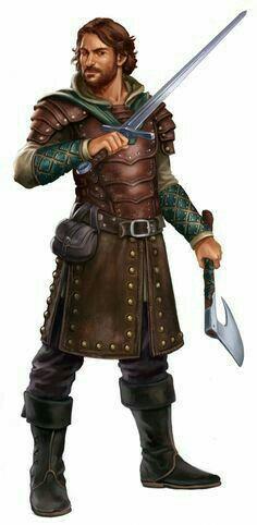 Human MaleTWF Ranger - Pathfinder PFRPG DND D&D d20 fantasy