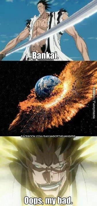 if Kenpachi learned shiki the world would explode... bankai is the next big bang!