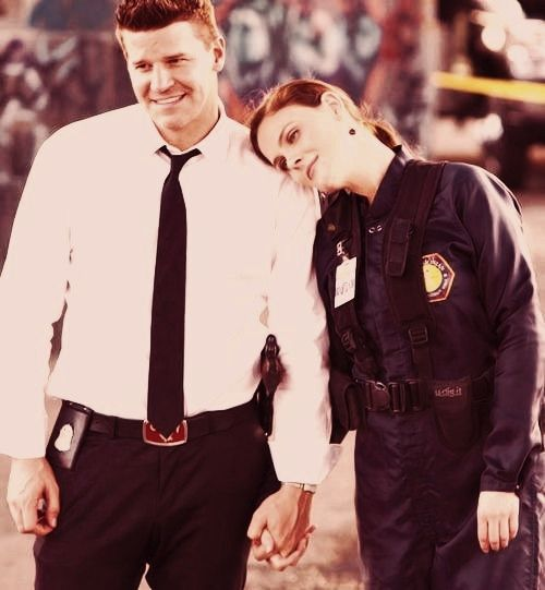 Bones and Booth. I love how in love they are even though they wont admit it  (: