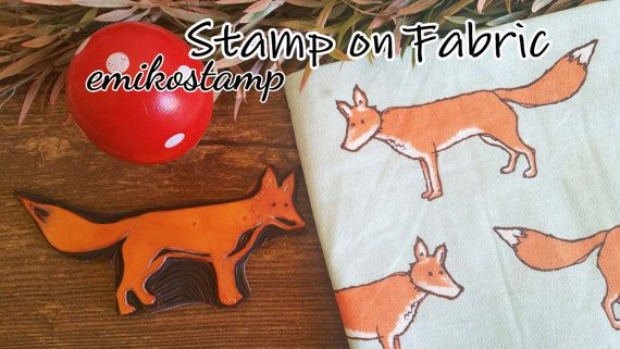 SALE Large XL Fox rubber stampWoodland Stampunmounted rubber