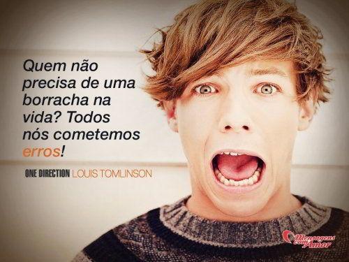 Quem não precisa de uma borracha na vida? Todos nós cometemos erros! #1D #OneDirection #LouisTomlinson
