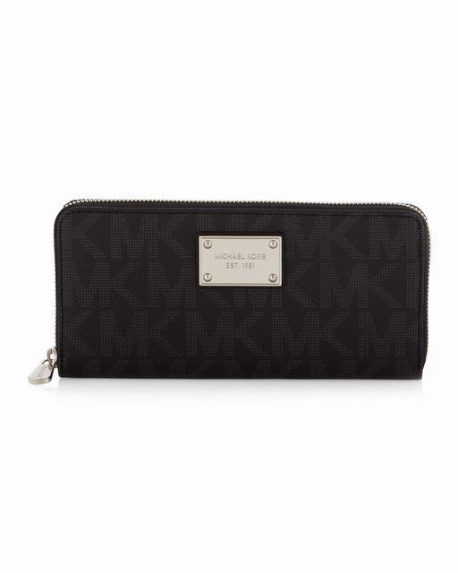 Michael Kors Jet-Set Pebbled Brieftasche Schwarz #bags#jewellery|#jewellerydesign}