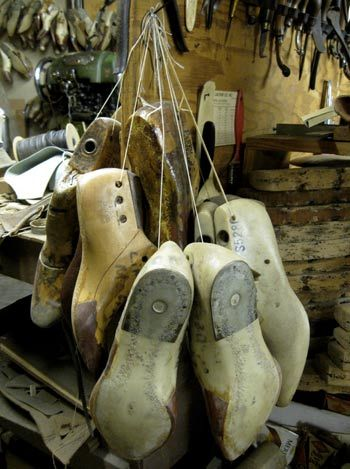 Lasts are the forms that makers use to build a pair of boots. These were photographed at Bell Custom Boots in Abilene, Texas.